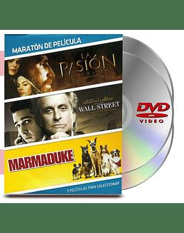 DVD Pack Maraton Vol :8 Pasión Cristo / Marmaduke / Wall Street