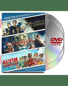 DVD Pack Maratón Vol :3 X-Men 1era Generación / Narnia / Alvin