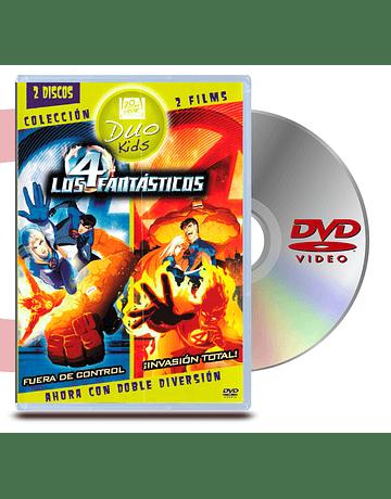 DVD Los Cuatro Fantasticos Animados World Heroes