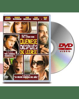 DVD Quemese Despues De Leerse