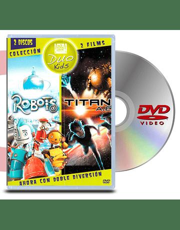 DVD Pack Robots + Titan Ae