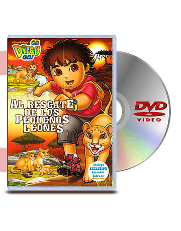 DVD Go Diego Go: Al Rescate De Los Pequeños Leones