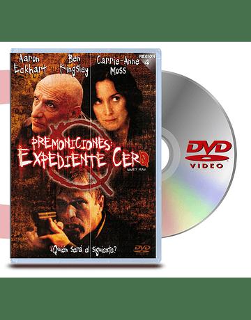 DVD Premoniciones Expediente Cero