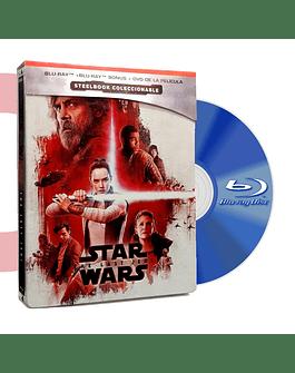 Steel Book Blu Ray Star Wars Los Ultimos Jedi BD+DVD