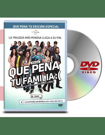 DVD Que pena tu familia