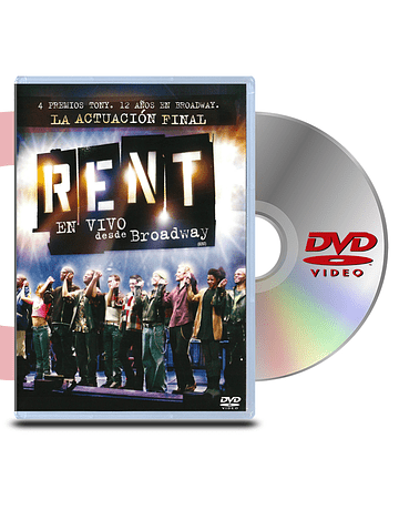 DVD Rent en vivo desde Broodway