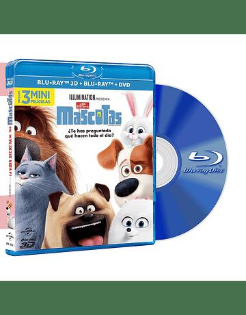 Blu Ray LA VIDA SECRETA DE TUS MASCOTAS 3D + BD + DVD