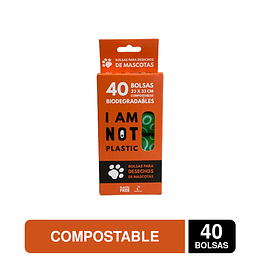 Bolsas para Desechos de Mascotas Compostable