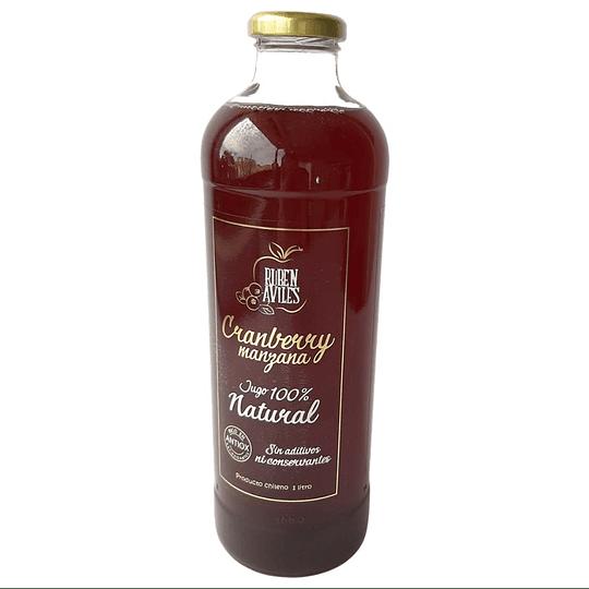 Jugo Cranberry/Manzana 100% Natural Retornable1 Lt