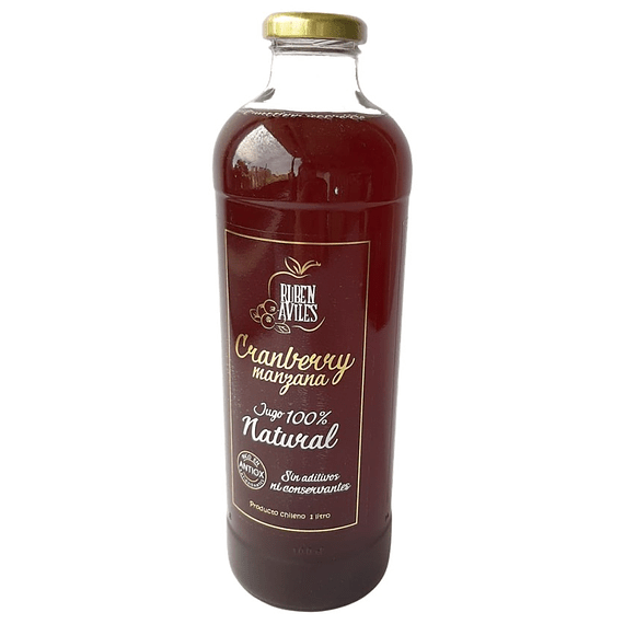 Jugo Cranberry/Manzana 100% Natural Retornable1 Lt