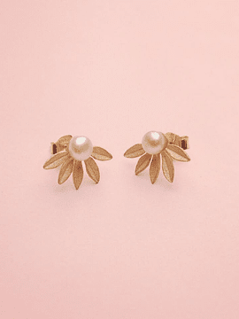 Earrings half flower