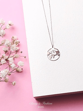 "Necklace world map ""Just Go"""