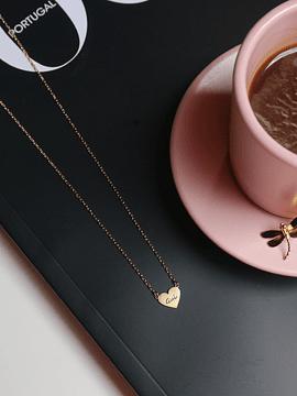 colar mini heart