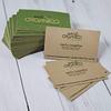 Pack 100 Tarjetas de Visita - Papel Reciclable