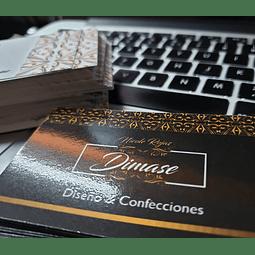 100 Tarjetas Visita Laminadas