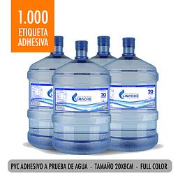 Pack 1.000 Etiquetas Bidon Agua