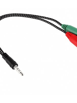 22cm 3.5mm macho a 2 hembra Cable adaptador para auriculares