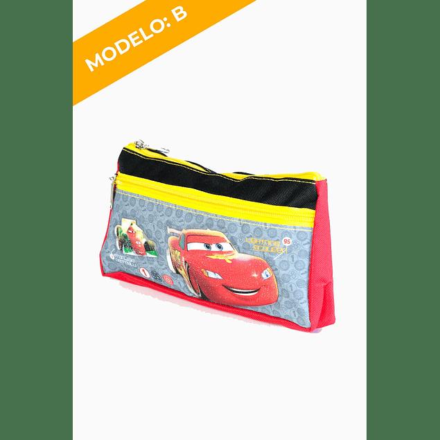 Estuche Doble Cierre Cars 2 Diseños