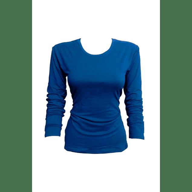 Camiseta bambú M/L azul M - L