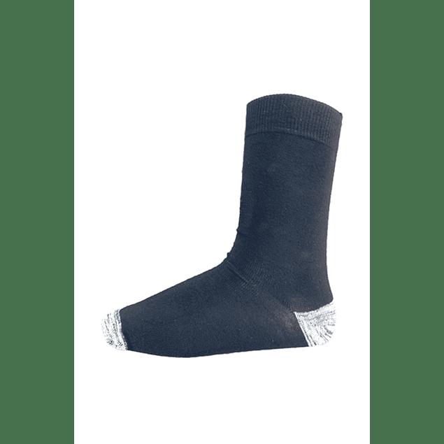 Calcetín Bambú-Cobre talón punta,  Negro