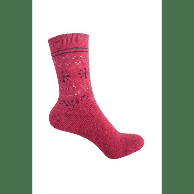 Calcetín Lana diseño Rojo 36 - 39