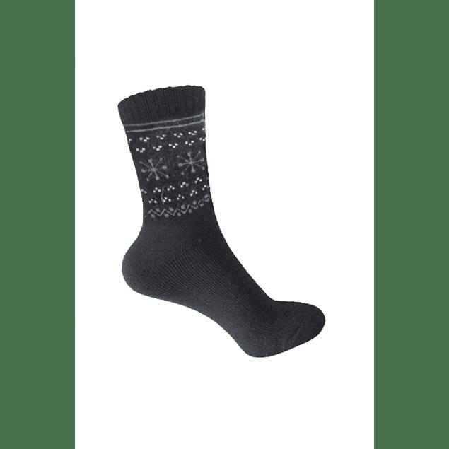 Calcetín Lana diseño Negro 36 - 39