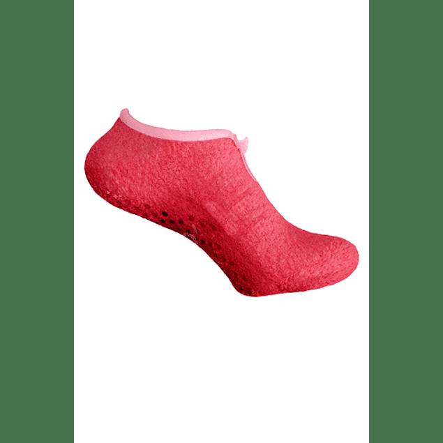 Pantuflines caña corta rojo 36 - 39