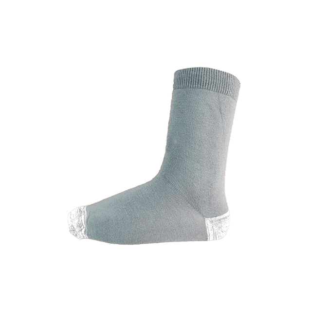 Calcetín Bambú-Cobre talón punta,  Gris claro 39 - 43