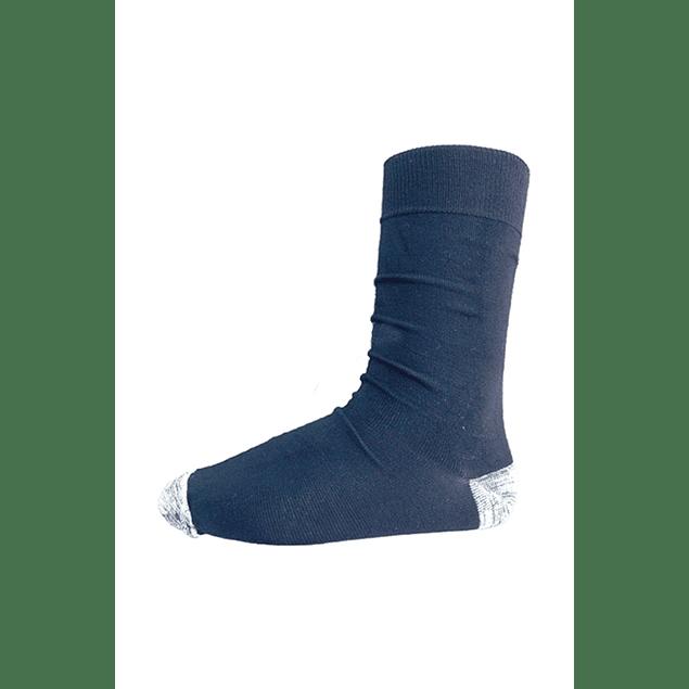 Calcetín Bambú-Cobre talón punta,  Azul marino 39 - 43