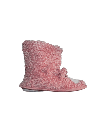 Pantufla infantil animales rosado