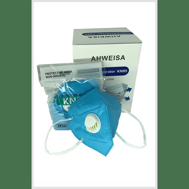 Mascarilla KN95 +Válvula (COLORES) (20 Uds.)