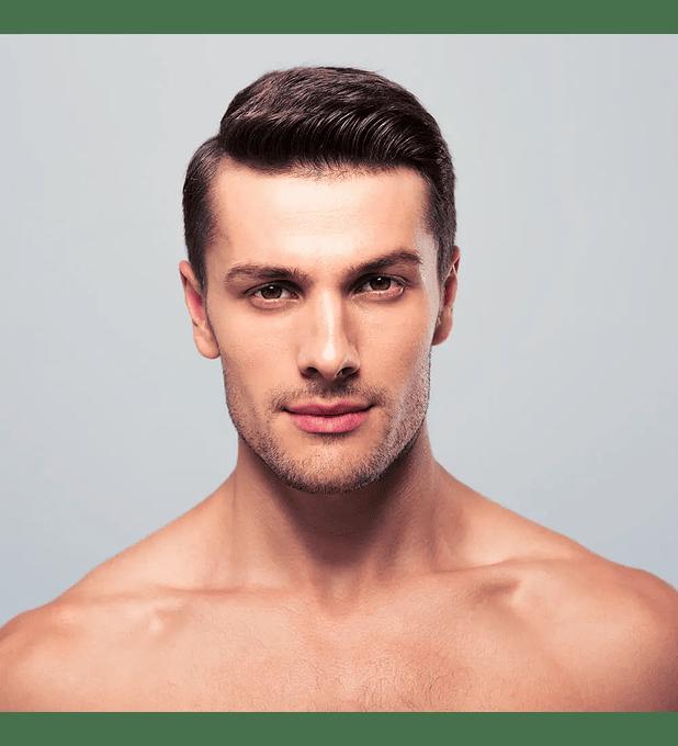 Depilación láser masculina delineado de barba