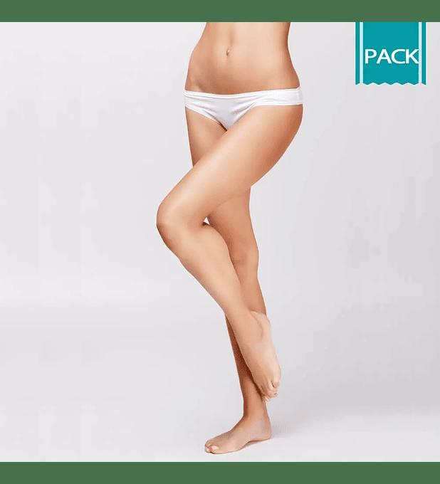 Depilación Láser Piernas Completas + Bikini Largo + Pies