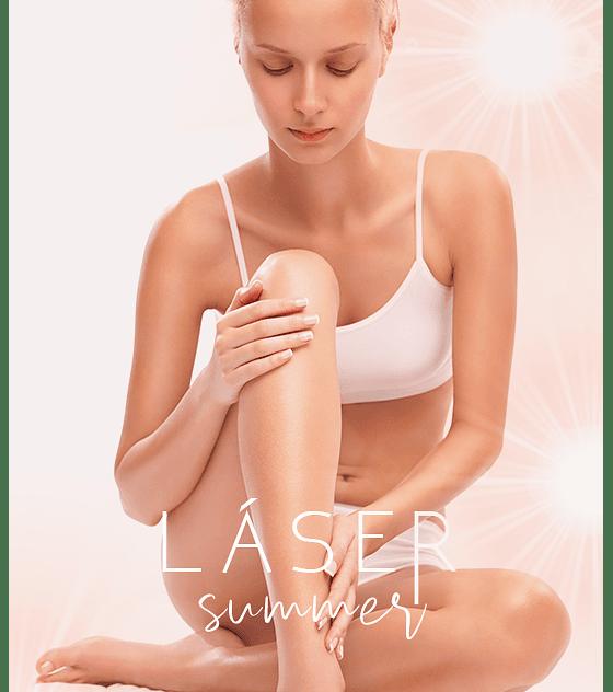 6 sesiones Depilación láser diodo pack Media pierna + Axila o Bikini corto