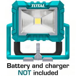 Lámpara de trabajo inalámbrico 20V 20W Litio-ion TOTAL