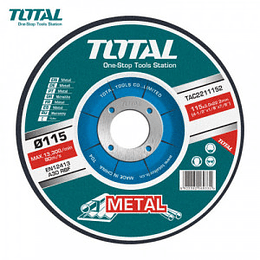 Disco Corte P/ Metal Abrasivo 115mm X 1.2mm Total