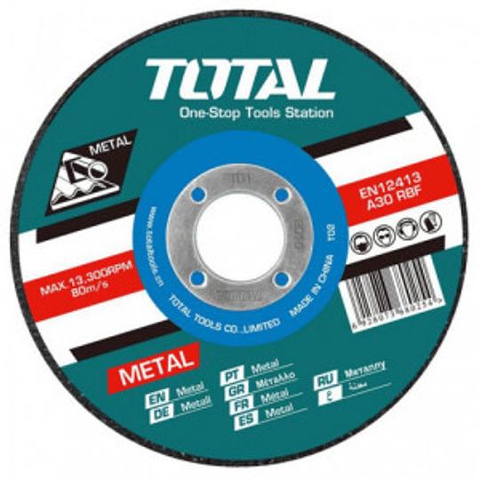 Disco Corte P/ Metal Abrasivo 125mm X 1.2mm Total