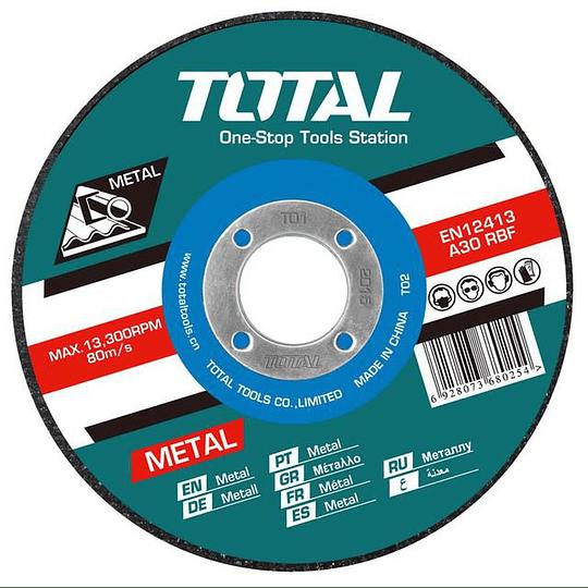 Disco Corte P/ Metal Abrasivo 180mm X 1.6mm Total