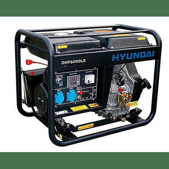 Generador Eléctrico Diésel 5.5KW Monofásico HYUNDAI