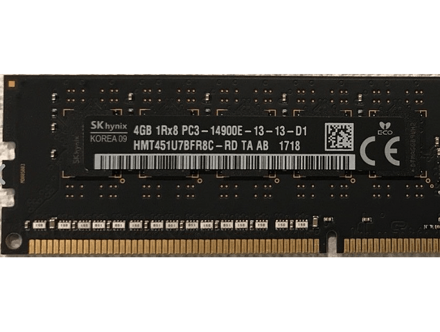 Memoria Ram 4gb / 1866Mhz EDIMM PC3-14900E / Ecc Unbuffered / 733036-581