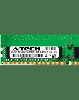 Memoria Ram 16gb / 2133Mhz EDIMM PC4-17000E - 2133P / Ecc Unbuffered