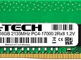 Memoria Ram 16gb / 2133Mhz EDIMM PC4-17000E - 2133P / Ecc Unbuffered