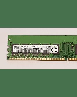 Memoria Ram 8gb / 2133Mhz EDIMM PC4-17000E PC4 - 2133P / Ecc Unbuffered / 803660-091