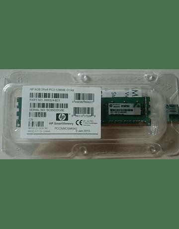 Memoria Ram 8gb / 1600Mhz EDIMM PC3-12800E / Ecc Unbuffered / 669324-B21 684035-001 669239-581 669239-081
