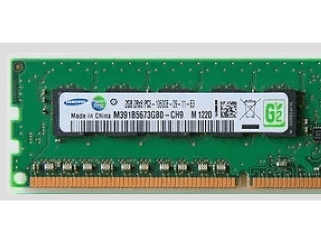 Memoria Ram 2gb / 1333Mhz EDIMM PC3L-10600E / Ecc Unbuffered  / 1.35v / 500209-061