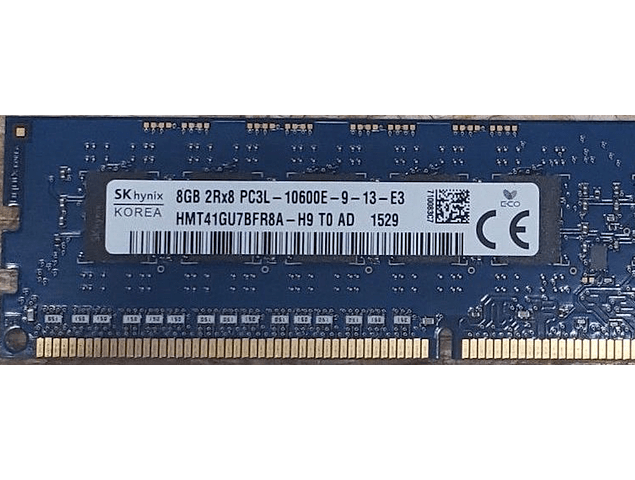 Memoria Ram 8gb / 1333Mhz EDIMM PC3L-10600E / Ecc Unbuffered  / 1.35v / 647658-081 647909-B21