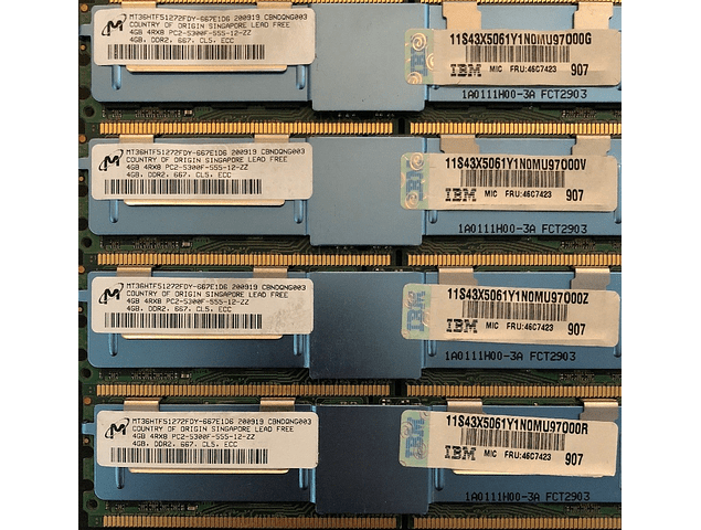 Memoria Ram 4gb / 667mhz FBDIMM PC2-5300F / Fully Buffered