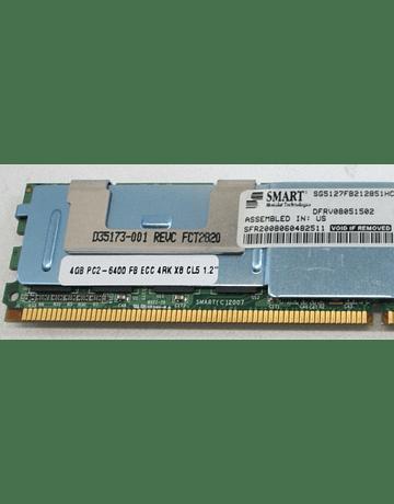 Memoria Ram 4gb / 800Mhz FBDIMM PC2-6400F / Fully Buffered