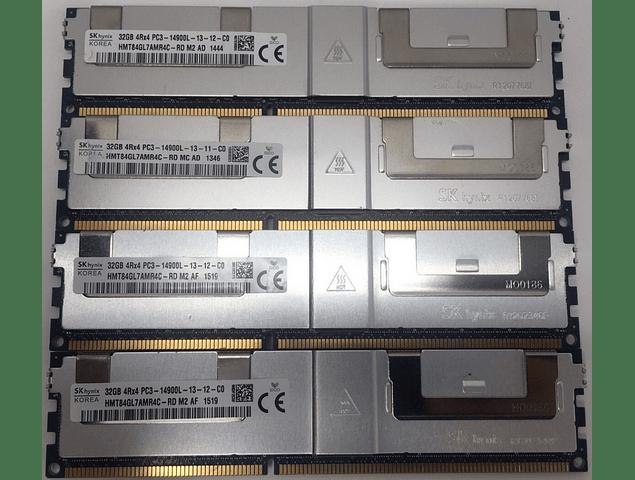 (A Pedido) Memoria Ram 32gb / 1866Mhz LRDIMM PC3-14900L / Ecc Registered - Load Reduced / 712384-081 715275-001 708643-B21