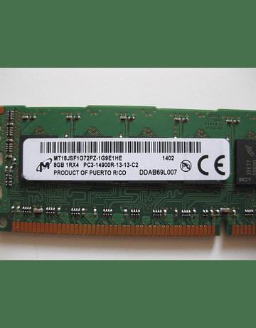 Memoria Ram 8gb / 1866Mhz RDIMM PC3-14900R / Ecc Registered / 712382-071 715273-001